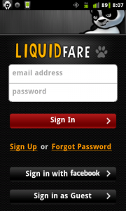 LiquidFare Log In