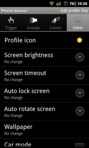 PhoneWeaver - You can also change notification icons, so you know which profile is selected