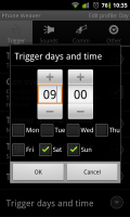 PhoneWeaver - You can create specific trigger times and days