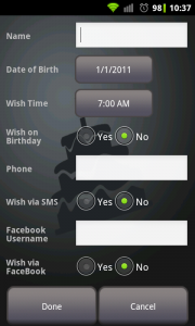 Qs Smart Birthday Wisher - Create Birthday wishes manually