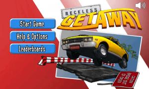 Reckless Getaway - Main Menu