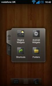 Regina 3D Launcher - Add to homescreen visual