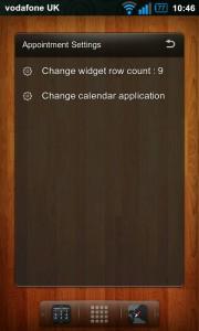 Regina 3D Launcher - Appointment widget settings