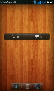 Regina 3D Launcher - Missed calls and messages widget