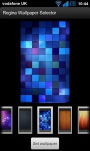 Regina 3D Launcher - Wallpaper selector