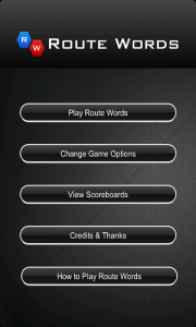 Route Words - Menu