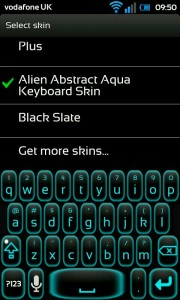 Smart Keyboard Pro - Alien Abstract Aqua skin