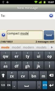 Smart Keyboard Pro - Compact mode keyboard