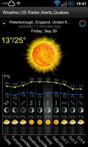 Weather,US Radar,Alerts,Quakes - App screens (6)