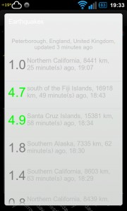 Weather,US Radar,Alerts,Quakes - Recent earthquake alerts