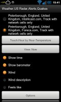 Weather,US Radar,Alerts,Quakes - Widget settings