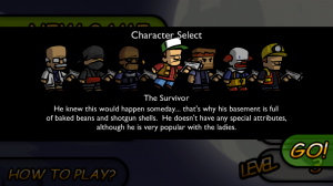 Zombieville Character Select