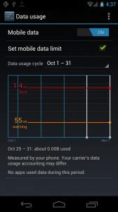Android 4.0 Data Usage