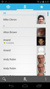 Android 4.0 People App (Contacts)
