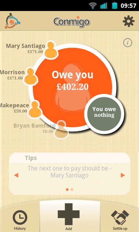 Conmigo a Helpful Expense Sharing App