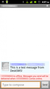 DeskSMS Google Talk Text
