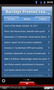ESPN ScoreCentre - Contextual league news