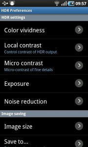 HDR Camera+ - Preferences