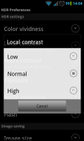 HDR Camera+ - Various settings (3)