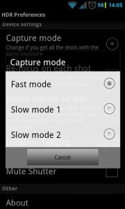 HDR Camera+ - Various settings (5)