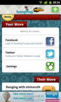 Hanging with Friends - Log in with Facebook and Twitter to find friends.