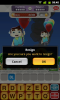Hanging with Friends - Resign if you want to