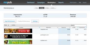 MoPub Marketplace Creatives Dashboard