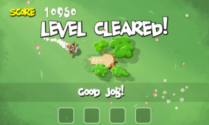 Pigs in Trees - Level cleared screen