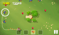Pigs in Trees - Target bird in your plane by creating a trail to them