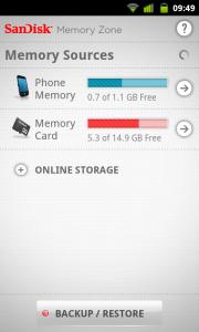 SanDisk - Memory Sources, Phone Memory and Memory Card
