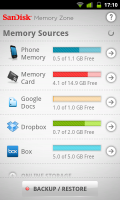 SanDisk - Memory Sources- Phone, SD card, Google Docs, Dropbox and Box.