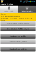 Smarter Volume Profile Manager - Initial screen, profile running