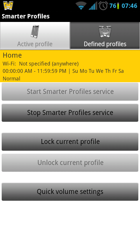 Smart Volume Profile Manager. Use Wi-Fi to Trigger Volume Profiles