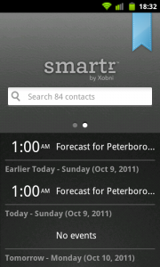Smartr - Events screen