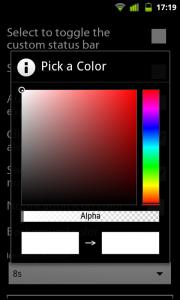 StatusBar+ - Color chooser