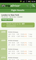 TripAdvisor - Flight search results