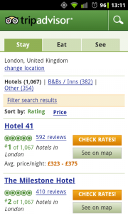 TripAdvisor - Search by city