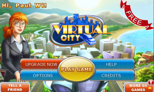 Virtual City - Main menu