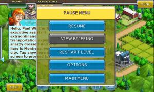 Virtual City - Pause Menu