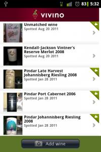 Vivino Wine List
