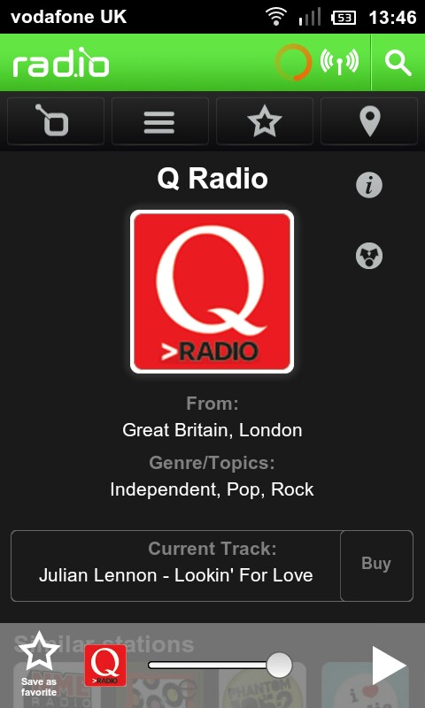 rad.io a Smart Streaming Radio Android App