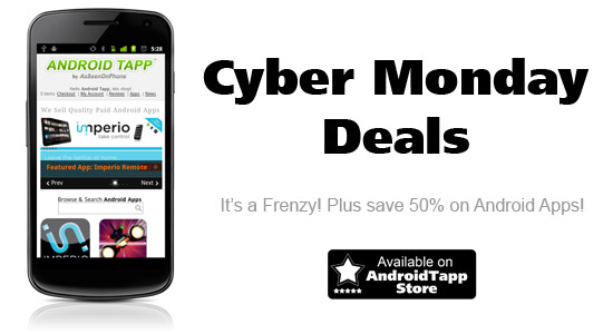 AndroidTapp Android App Store Cyber Monday Deals