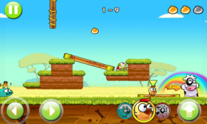 Angry Piggy (Adventure) - Collect the golden drops for a perfect score