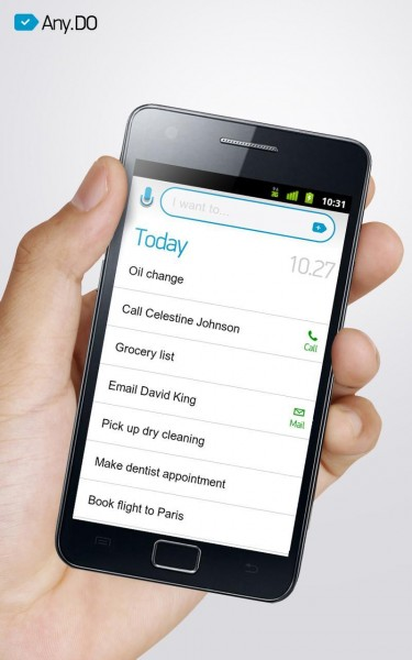 Any.DO App Allows you to Speak and Share your Do List with Friends
