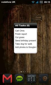 BHive Google Tasks - 2x2 widget