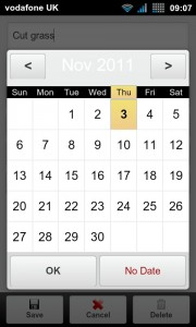 BHive Google Tasks - Create due date