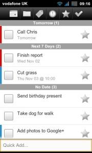 BHive Google Tasks - Main app dashboard