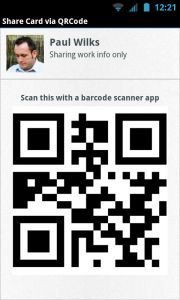 CardSharing - Create an easy QR code