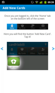 Cardmobili - Add new cards