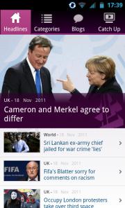 Channel 4 News - Main menu